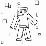Minecraft Drawing Outline Coloring Printable Vector Cool Ascii sketch template