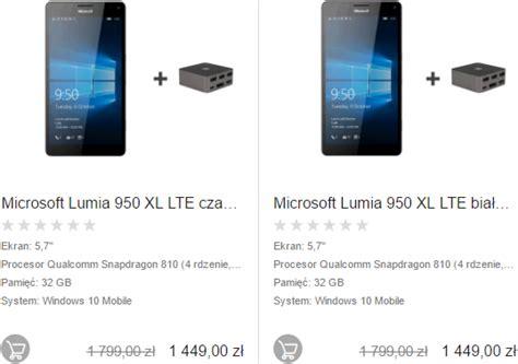 lumia 950 xl ze stacją dokującą hd 500 w promocyjnej cenie