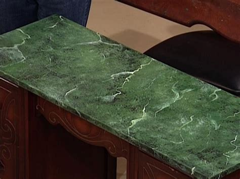 How To Paint A Faux Marble Surface  Howtos Diy