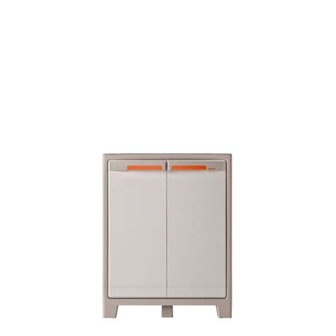 meuble bas cuisine 30 cm armoire basse résine 2 tablettes spaceo premium l 80 x h 100 x p 44 cm leroy merlin