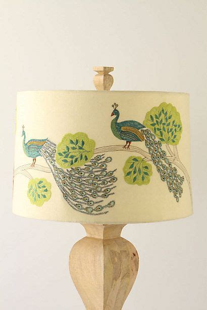 table lamp peacock lampshade decor peacock pictures