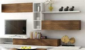 Meuble Haut Salon : meuble tv 3 tiroirs notte mobilier pour salon design en bois ~ Teatrodelosmanantiales.com Idées de Décoration