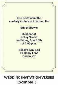 Bridal Shower Invitation Wording Examples