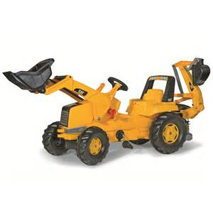 cat ride on cat front loader with backhoe ride on creative kidstuff