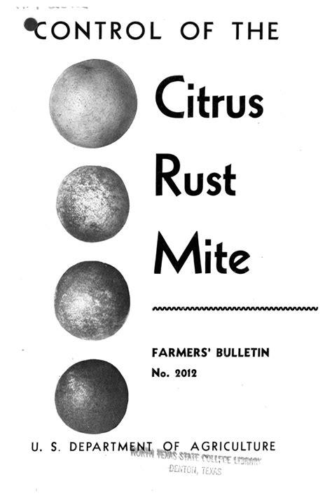 rust citrus mite control agriculture library digital unt ark edu
