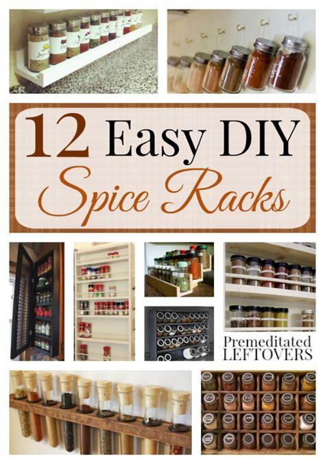 How To Make A Spice Rack by Easy Diy Spice Racks