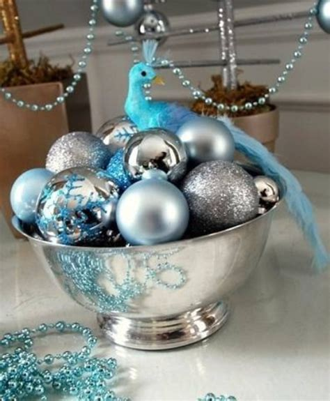 silver blue christmas decorations 35 silver and blue d 233 cor ideas for christmas and new year digsdigs