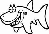 Shark Coloring Funny Fish Pages Drawing Cartoon Underwater Sunglasses Printable Smiling Getdrawings Draw Clipartmag Wide Books sketch template