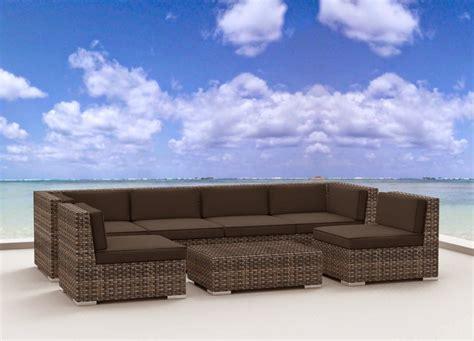 outdoor wicker sectional sofa set urban furnishing modern outdoor backyard wicker rattan