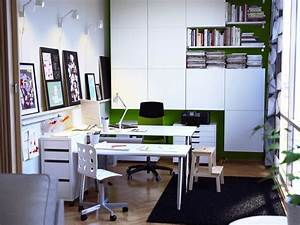 Small Office Design In Lovely And Cheerful Nuance