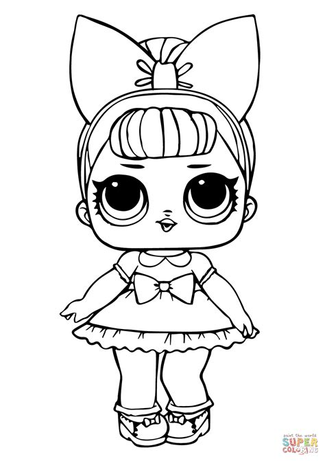fancy glitter lol surprise doll coloring page  printable coloring pages