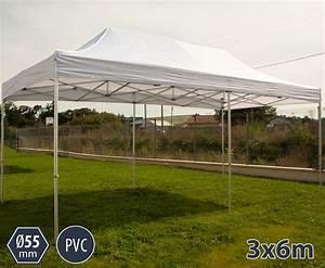 Barnum Pliant 3x6 : barnum pro aluminium 55mm 3x6m blanc sans murs ~ Carolinahurricanesstore.com Idées de Décoration