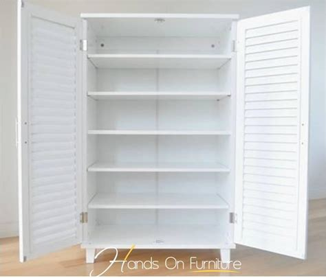 White Louvre Cupboard Doors by Brand New White Louvre Door 36 Pairs Shoe Storage