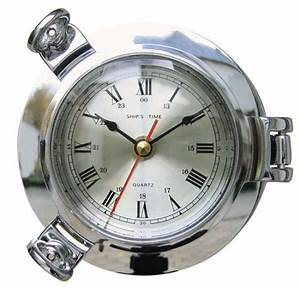 Uhr Zum Hinstellen : uhr mit quartzwerk im bullauge 14 cm maritime deko ~ Michelbontemps.com Haus und Dekorationen