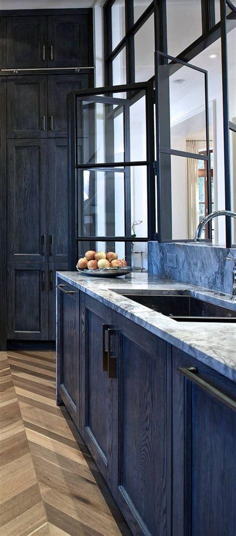 blue stained kitchen cabinets синие кухни фото 80 потрясающих идей дизайна 2018 4839
