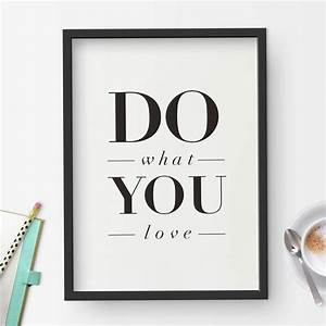 Do What You Love : 39 do what you love 39 inspirational quote typography print by the motivated type ~ Buech-reservation.com Haus und Dekorationen