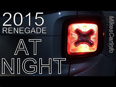 jeep headlights at night 2015 jeep renegade at night youtube