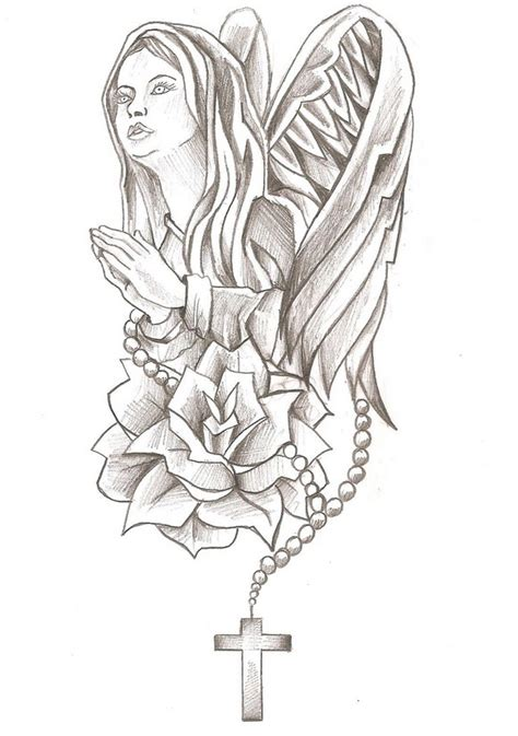 art therapy coloring page virgin mary mary rose  cross
