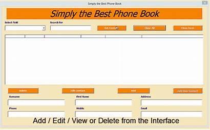 Phone Excel Manager Userform Database Hidden Learning