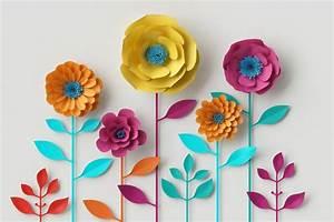 Fleur De Papier : tableau fleur en papier color et contemporain ~ Farleysfitness.com Idées de Décoration