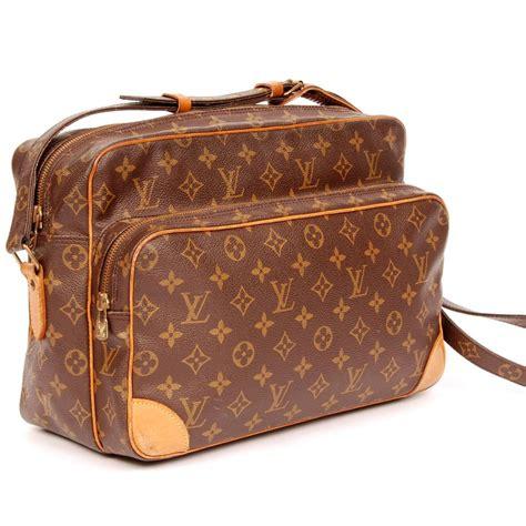 louis vuitton brown canvas nile cross body bag tradesy