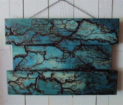 blue maze electrified wood wall hanging art   wood