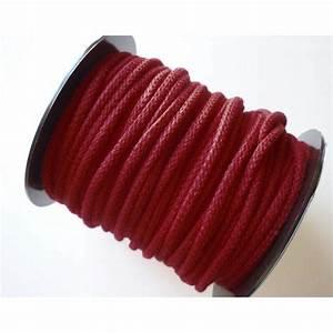 Corde Au Metre : corde coton 5 mm rouge couture bijoux macram au ~ Edinachiropracticcenter.com Idées de Décoration