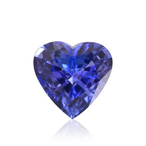 carat violet tanzanite heart shape sku