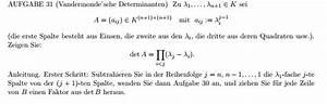 Determinante Berechnen : determinante berechnung mit der vandemondschen determinanten mathelounge ~ Themetempest.com Abrechnung