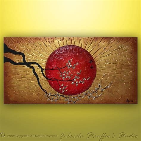 Abstract Painting Asian Painting Wall Art Wall Decor Large