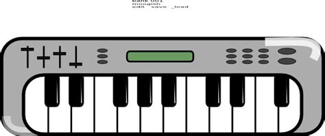 Electronic Keyboard Clipart