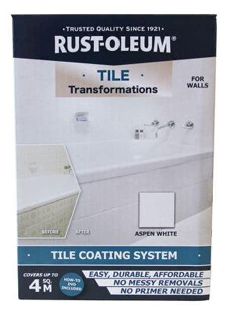 rust oleum tile transformations kit aspen white ebay