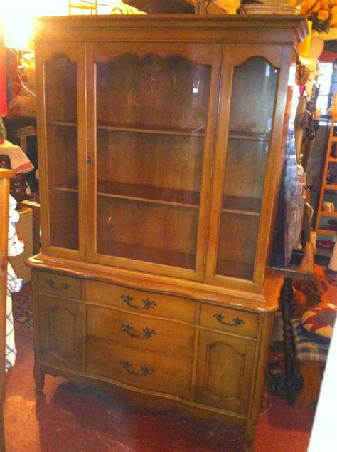 China Cabinet And Hutch by Vtg China Cupboard Cabinet Hutch Buffet Glass And Wood