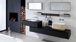 Salle De Bain Marbre Blanc : des id es d co pour une salle de bains en noir et blanc ~ Nature-et-papiers.com Idées de Décoration