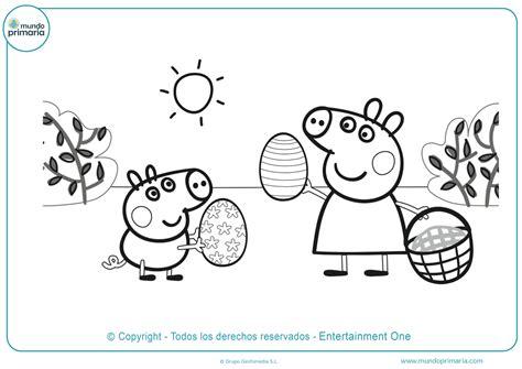 dibujos de peppa pig  colorear descarga gratis