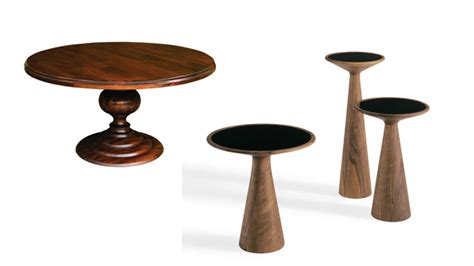 The newton coffee table has a base with a sinuous and sculptural design, a perfect match for its glass top. A Fabulous List of 21 Round and Wooden Pedestal Coffee Table Bases | Home Design Lover