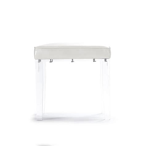 Acrylic Chair For Vanity by Zentique Acrylic Vanity Stool