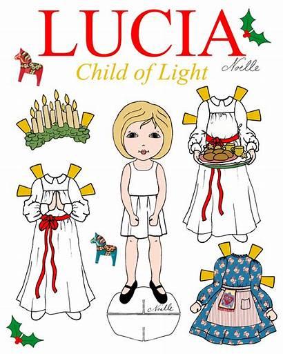 Lucia Santa Paper Clipart Doll Child Dolls