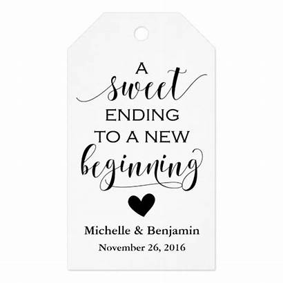 Sweet Ending Beginning Tag Favor Favour Zazzle