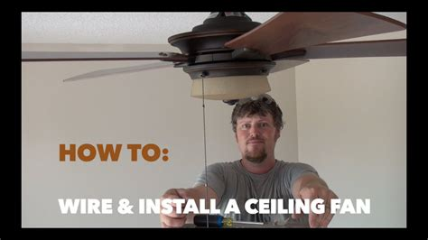 How Wire Install Hampton Bay Ceiling Fan Youtube