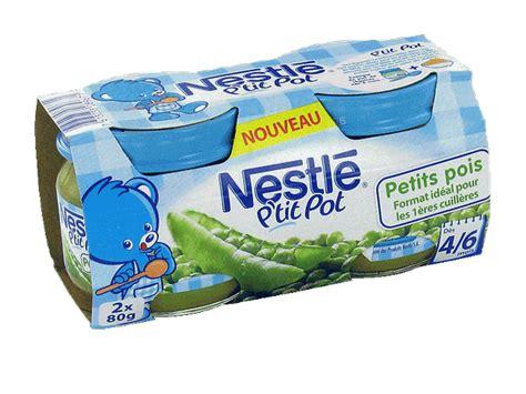 nestle p pot petits pois 2x80g des 4 6 mois tous les produits assiettes petits pots de