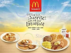 McDonald's All-Day Breakfast Promo 1 – 4 Jan 2015