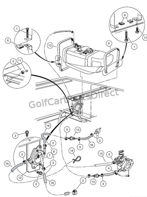 Golf Cart Fuel Diagram by Fuel System Turf Carryall 2 Xrt And Carryall 2 Plus