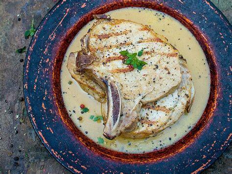 sos recettes cuisine côtelettes de porc sauce à la moutarde
