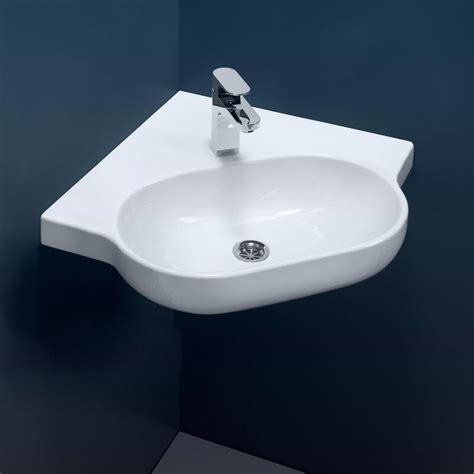 small pedestal sink caroma opal sole corner wall basin design content