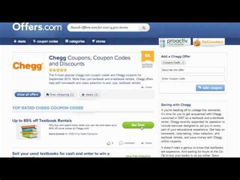 30598 Operation Parts Coupon Code by 44 Chegg Coupon Offers May 2015