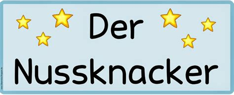 """Ideenreise Wortkarten Zur """"nussknacker Suite"""""""