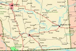 Southern Alberta Map