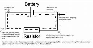 How The Resistor Limits The Current Across The Circuit When Only One Part Of The Dc Current