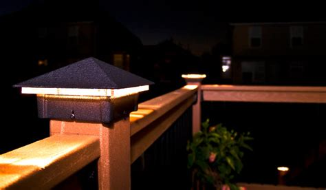 6x6 Lighted Deck Post Caps by Deck Lighting Lighted Post Caps Traditional Lighting